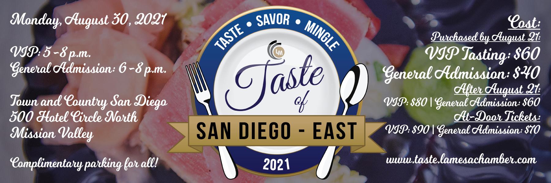 Taste of San Diego - East 2021