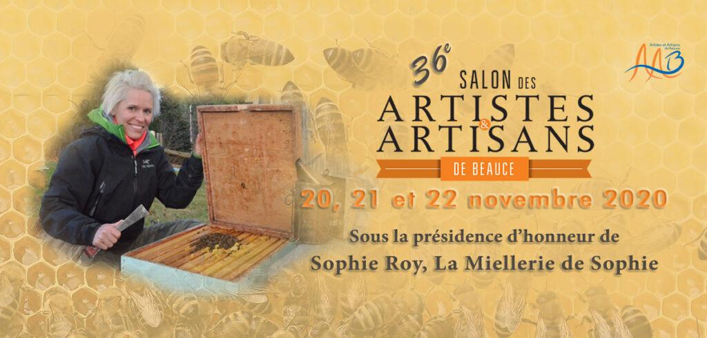 Affiche du salon des artistes et artisans de Beauce avec Sophie Roy.