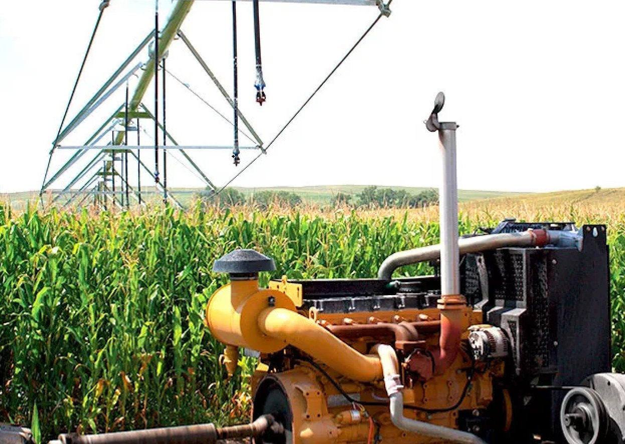 Generator Powering Irrigation on Farm