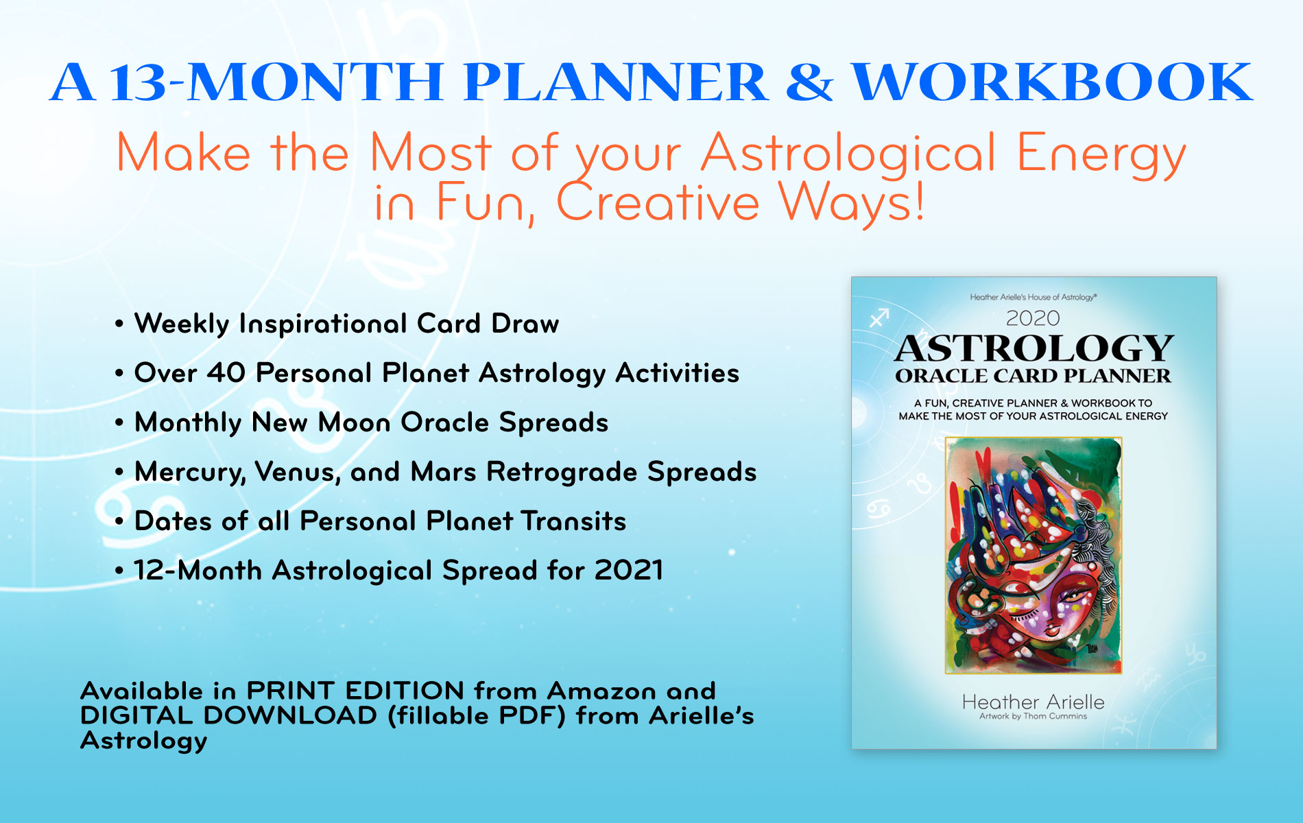 astrology oracle card planner