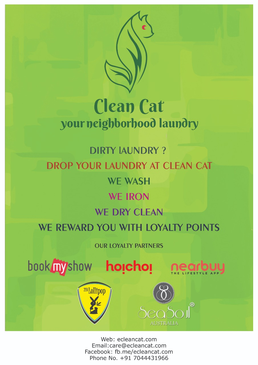 Call us for door step contact less pick & drop laundry  services- Clean Cat Premium