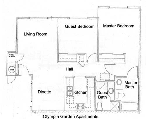 Olympia Garden Apartments Floor Plan