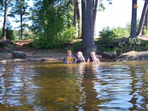 The children at Ragged Lake in 2005