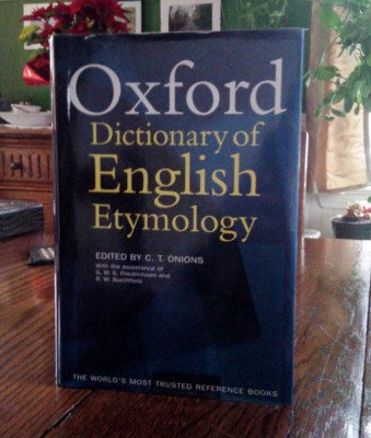 Picture of the dictionary of English Etymology.