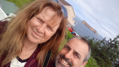 Picture of us on Cape Breton Island Nova Scotia
