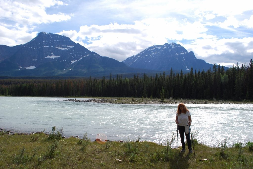 Beside the Athabasca River Mount Kerkislin campground