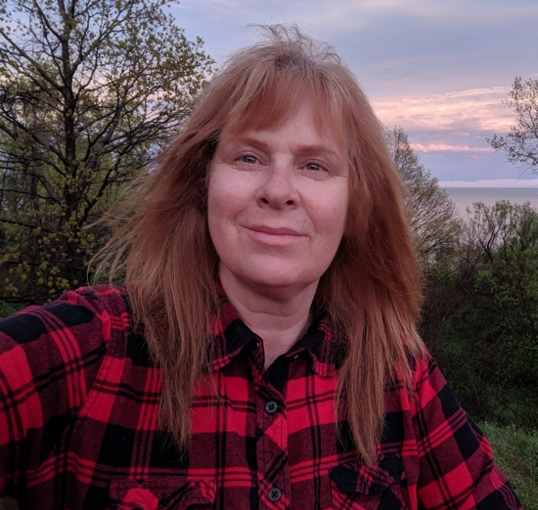 Catherine at Rock Point Provincial Park May 2019