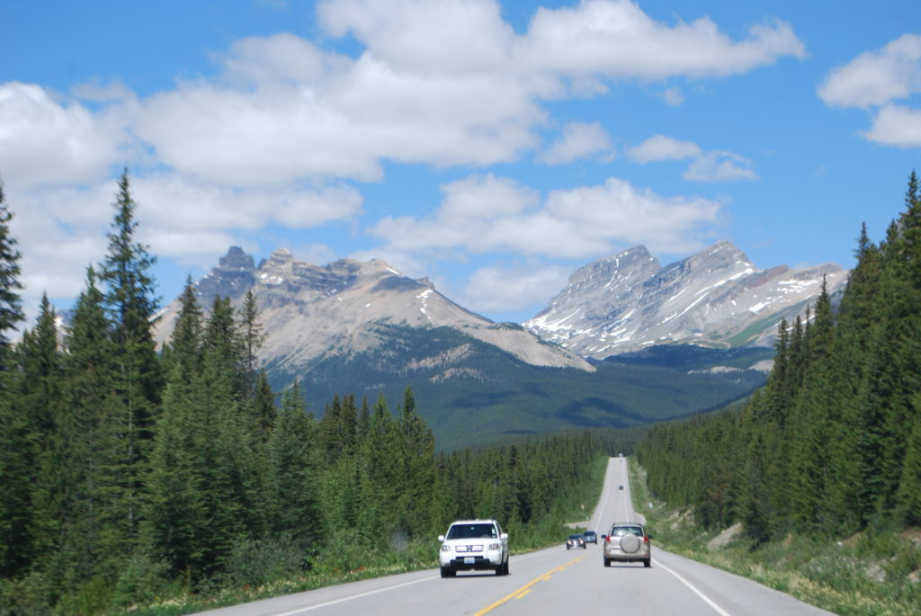 The Rockies are straight ahead