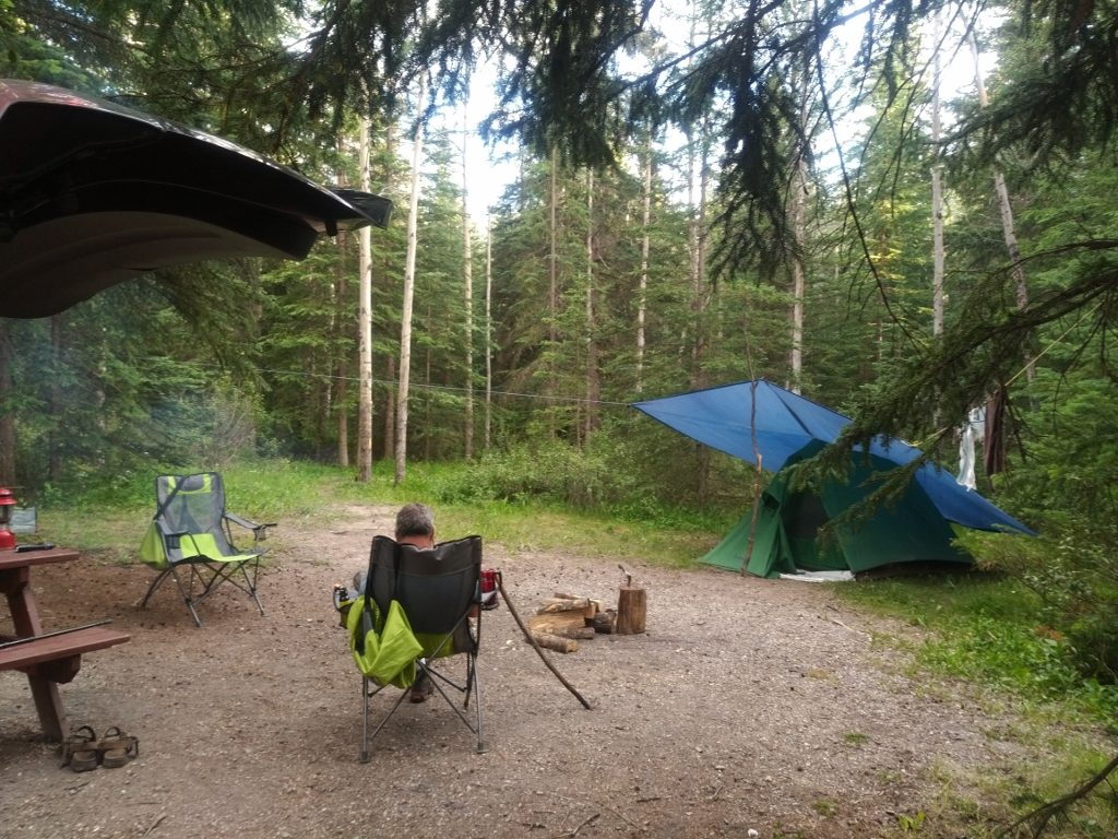 Our campsite at Mount Kerkislin campground