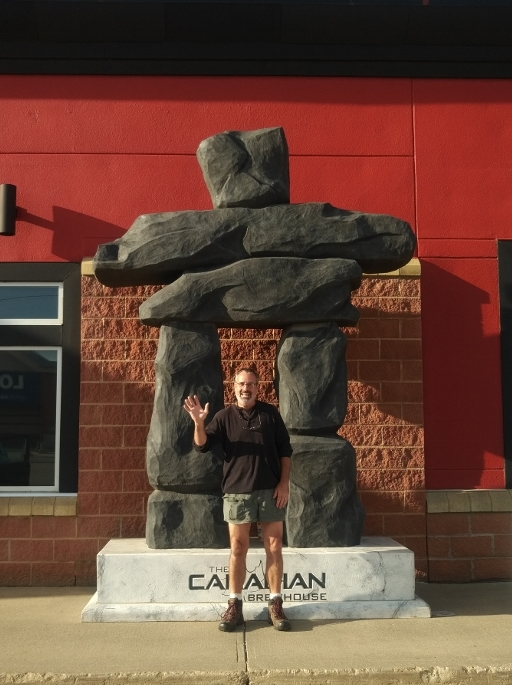 Matt and the Inukshuk
