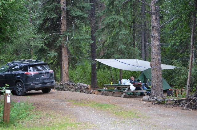 Campsite at Watson Lake Territorial Campground