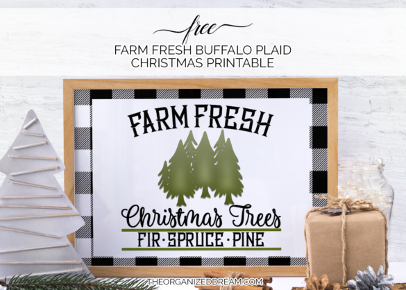 Free farm fresh buffalo plaid christmas printabe! #printables #christmas