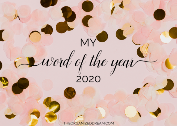 My word of the year for 2020. #2020 #goals #newyear