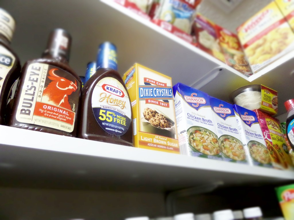 Extra shelving in pantry
