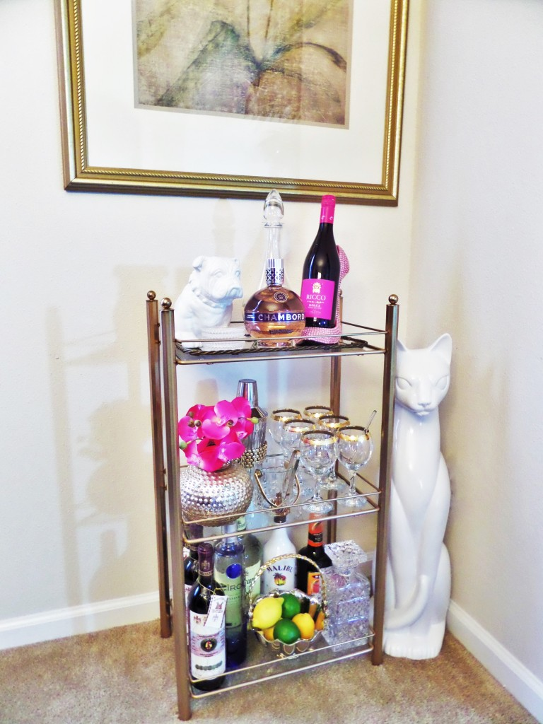 Thrifty Find Bar Cart Styling Be My Guest With Denise