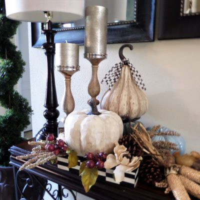Fall Home Decor | 4 Ways To Style Fall Vignettes