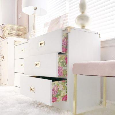 Unexpected Pop OF Color | How To Decoupage A Dresser