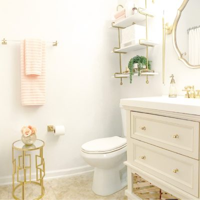 Small Guest Bathroom Makeover | Featuring Lamps Plus