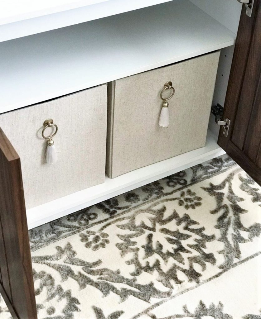 Better Homes & Gardens Fabric Storage Bin with Tassel