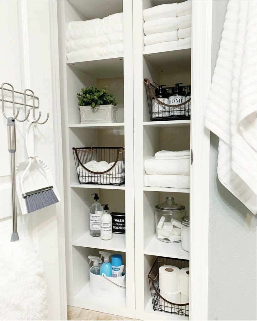 Linen Closet w/Better Homes & Gardens