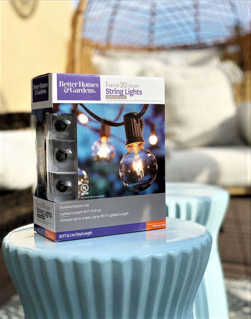 Better Homes & Gardens Outdoor 20 Count Frosted Glass Globe String Lights