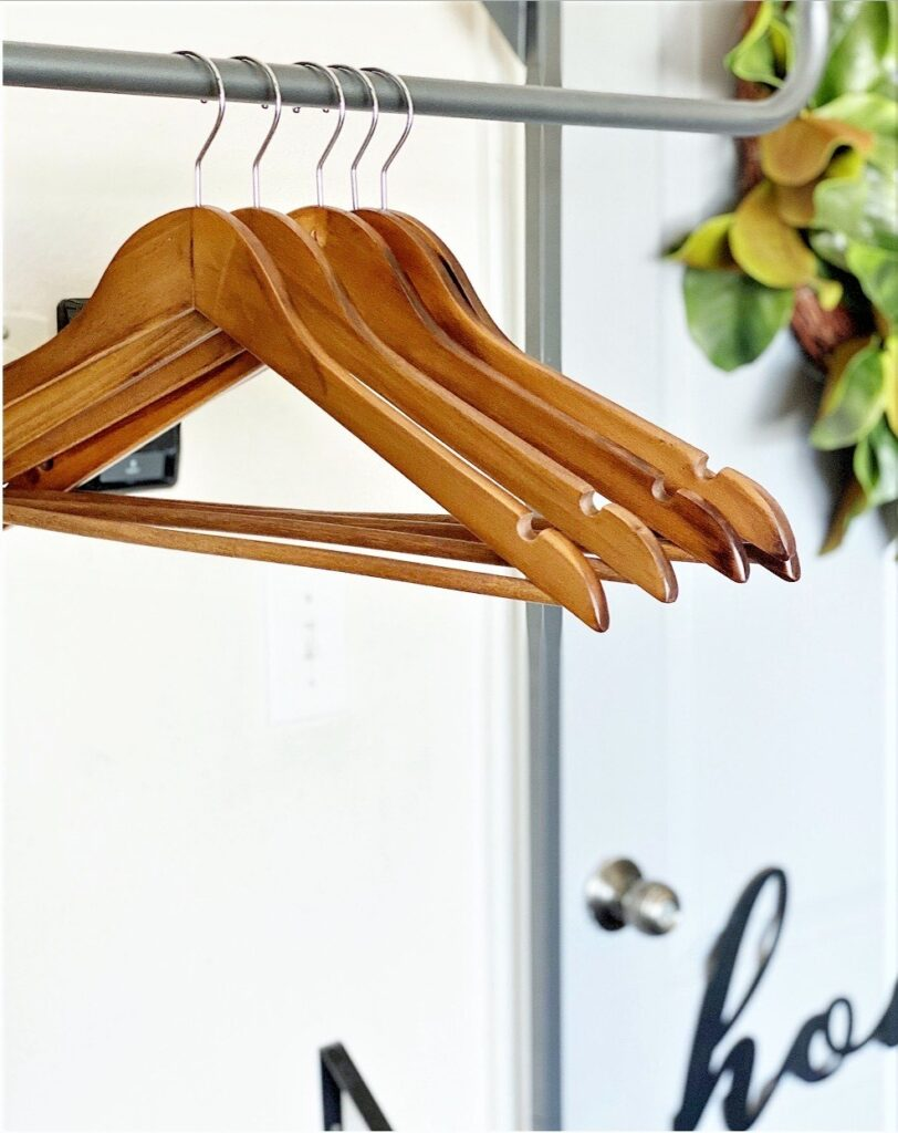Better Homes & Gardens Wood Walnut Finish Suit Hangers, 5 Count