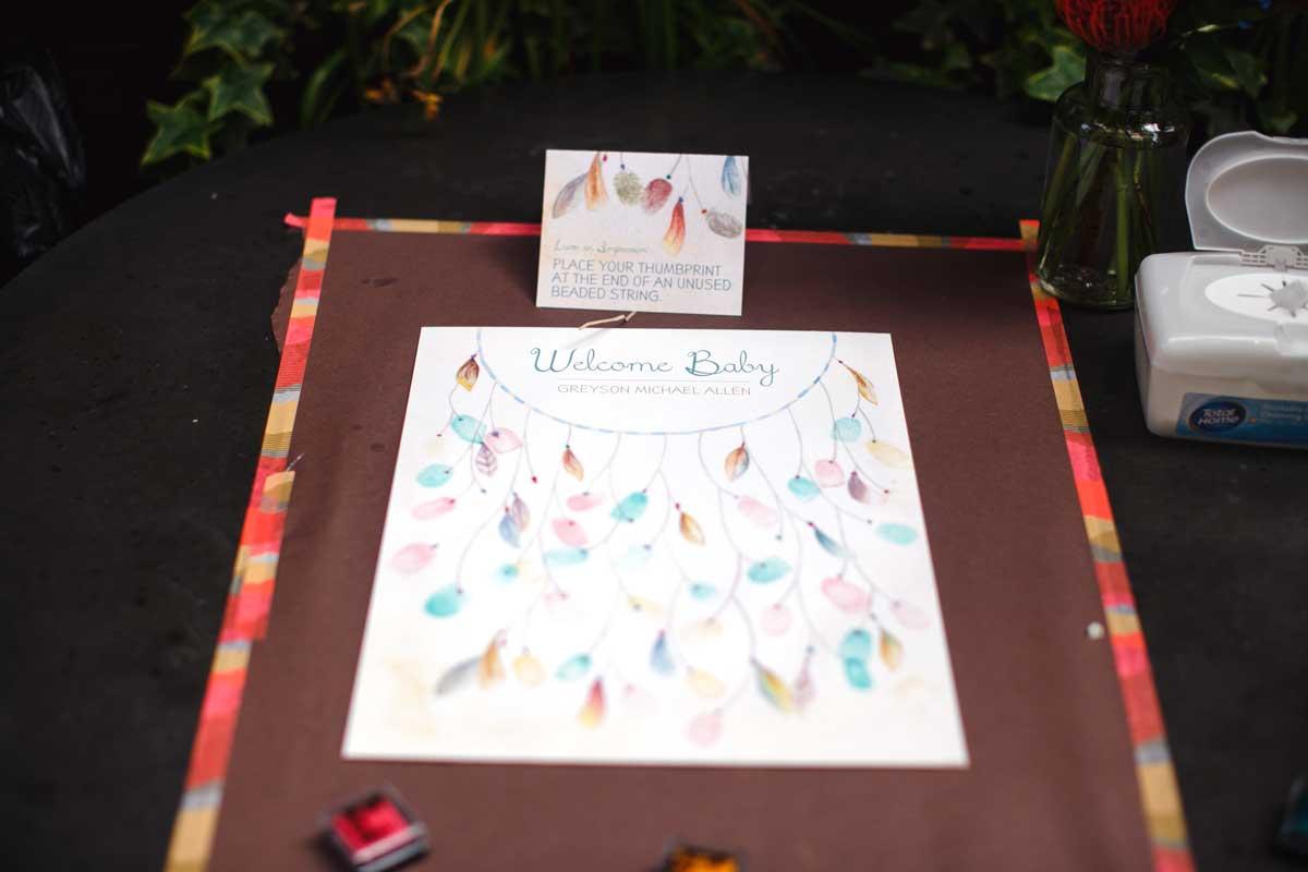 Dreamcatcher baby shower decor