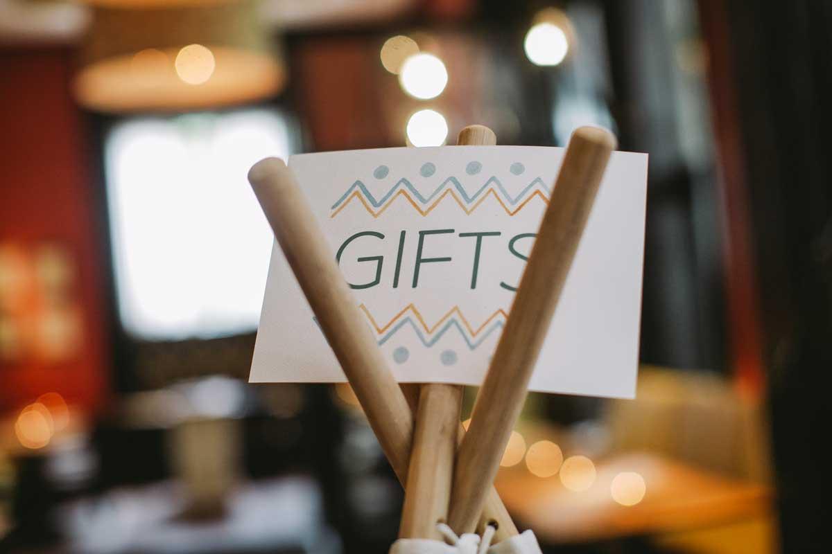 Dream catcher baby shower gift sign