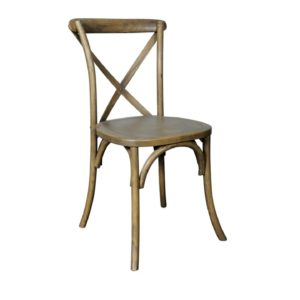 Cross Back Chair Rustic