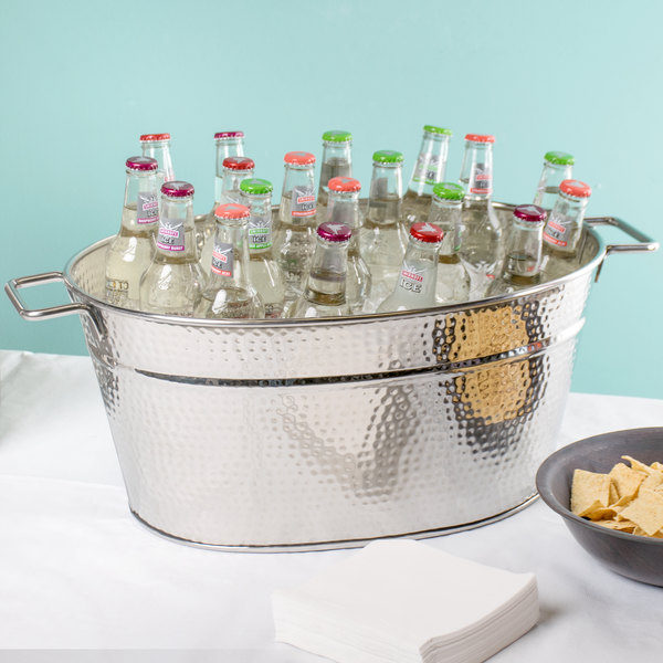 B1 Ice Display Tubs Silver Hammered