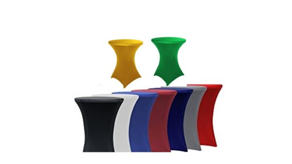 Spandex Tablecloth in all Color for Rent
