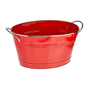 B1 Galvanized Ice Tub Red