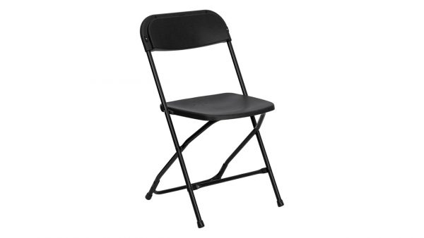 Chairs Black metal for rent