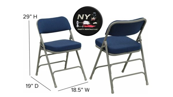 "Folding Chair 2 1/2 "" tick Executive Corporate Blue for Rent"