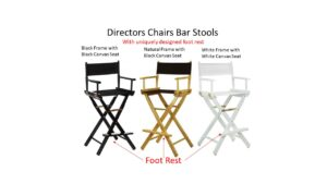 Directors Chairs with Foot Rest