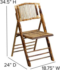 206 Folding Chair Glossy Bamboo