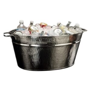 111 Ice Display Tubs Silver Hammered