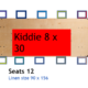 D5 Kids Tables for Rent - Kiddie 8X30