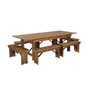 212 Farm Table With Benches