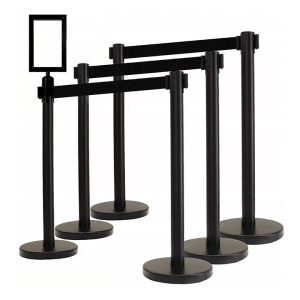 Stanchion black retractable for rent