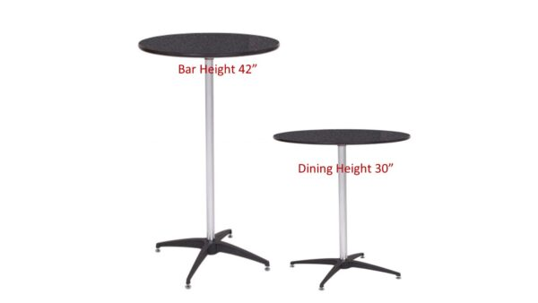 Black finish top cocktail tables