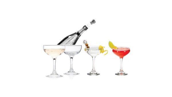 Coupe champagne glass for rent