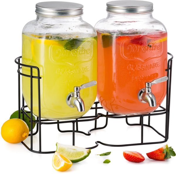 B3 Beverage Dispenser Twin 1 Gal With Stand
