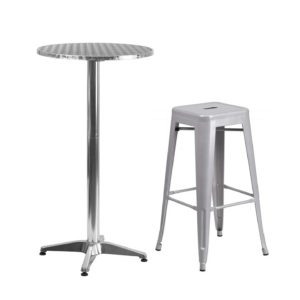 258 Round Metal Cocktail Tables