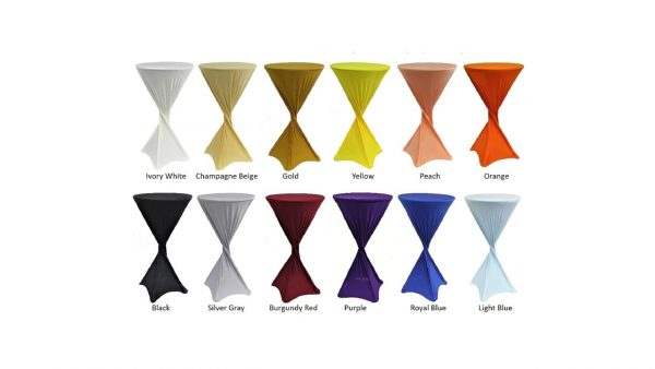 Spandex tablecloth for rent