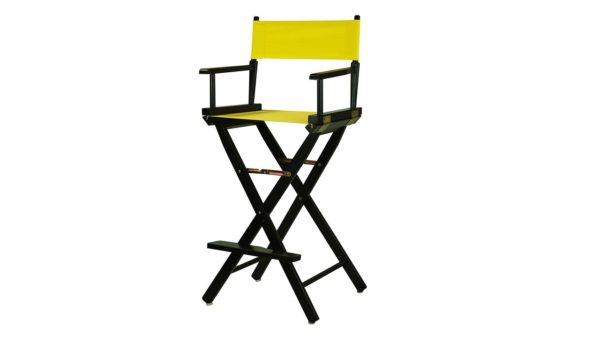 Bar Stools Directors Chair Black Frame-with Yellow Canvas, Bar Height