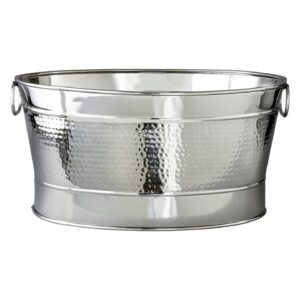 110 Ice Display Tubs Silver Hammered