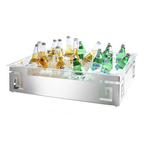B2 Beverage Ice Housing Stainless Steel with Acrylic Insert 26 X 18