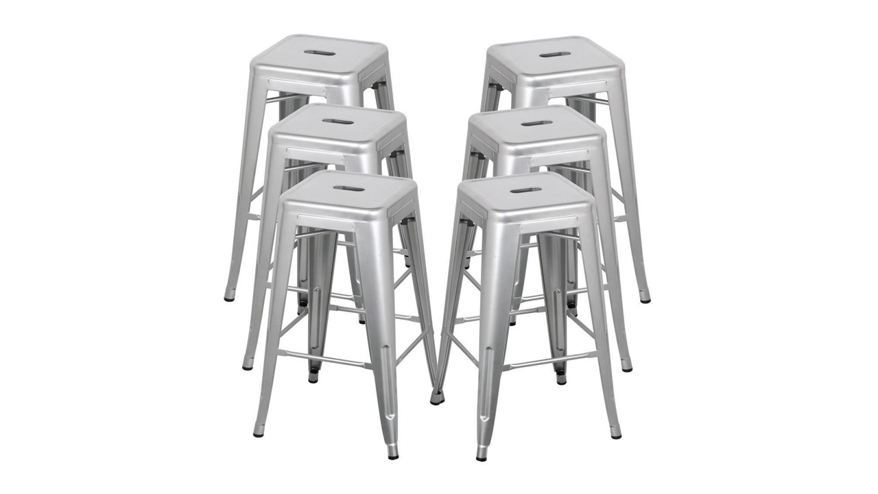 715 Bar Stools Metal Silver