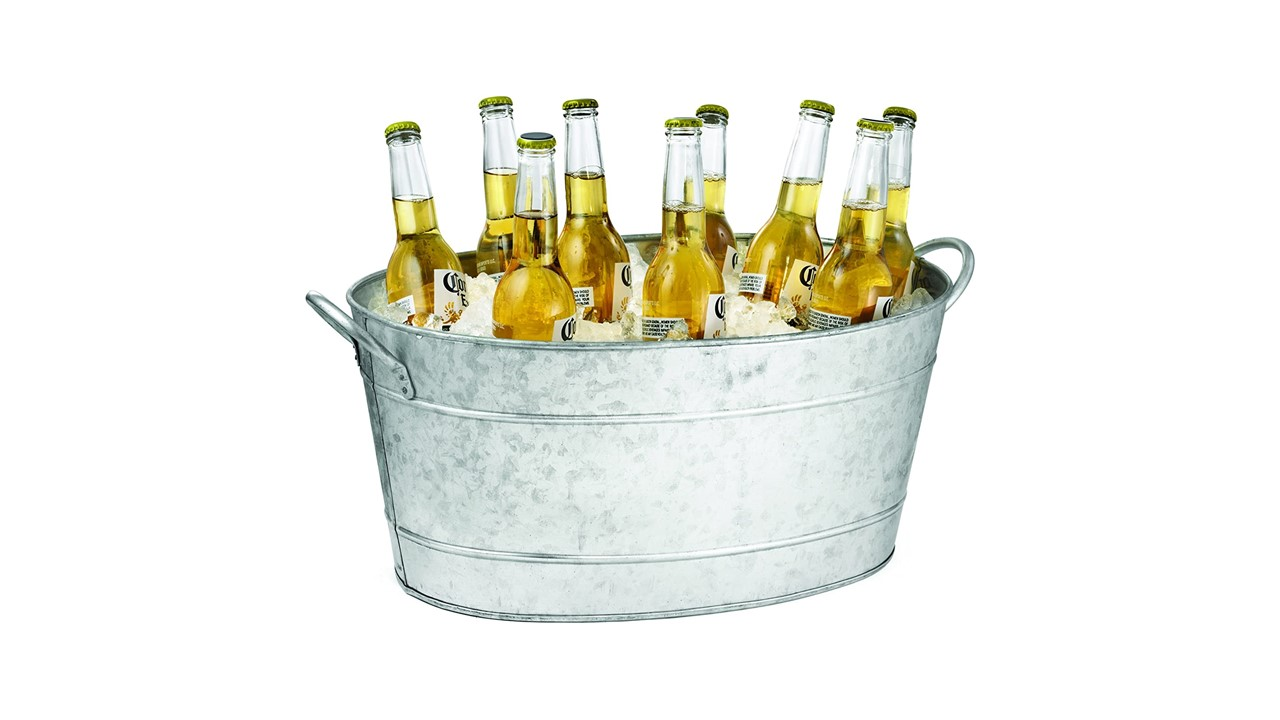 Galvanized Oval Beverage Tub, 5.5 Gallons